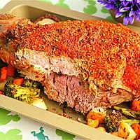 节日里必不可少的横菜:[烤羊腿]的做法图解9