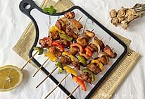 #全电厨王料理挑战赛热力开战!#减肥解馋必备‼️彩椒鸡肉串的做法
