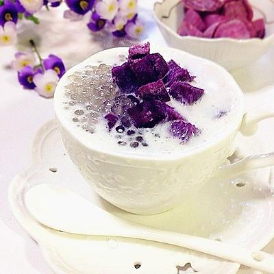雄鷄標椰浆试用之---紫薯椰浆西米露