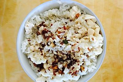 咸菜豆腐脑配米饭