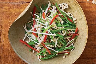 金针菇炒荷兰豆