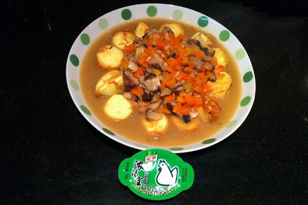 【家乐浓汤宝试用】上汤玉子豆腐--香嫩滑鲜的做法