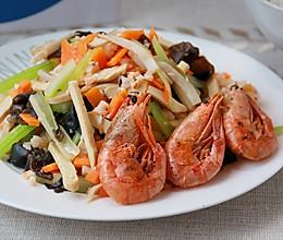 健康低卡—虾干蔬菜凉拌菜