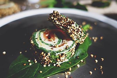 【安卡西厨】三文鱼菠菜卷