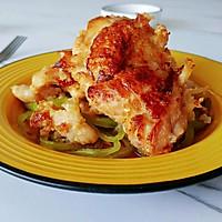 酸甜酒酱粉煎鸡的做法图解8