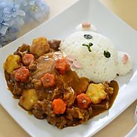 小熊泡澡咖喱牛腩饭#咖喱萌太奇#的做法图解10