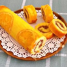 香橙反转蛋糕卷