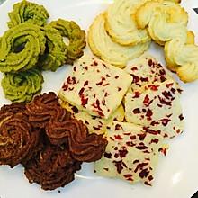曲奇饼干 奶味足改良配方 原味 抹茶 巧克力 蔓越梅四种口味
