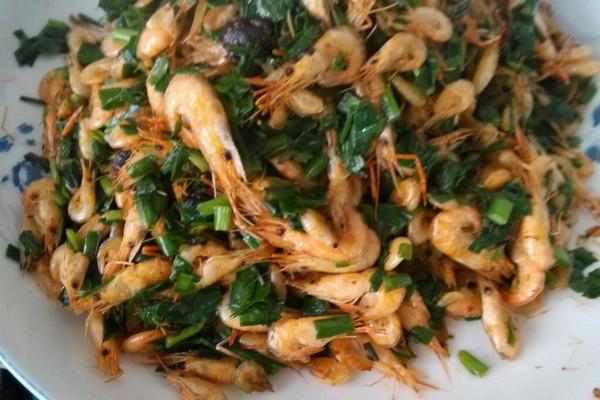 河虾韭菜的做法