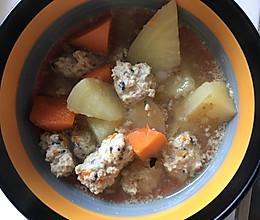 丸子蔬菜汤的做法