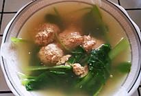 牛肉丸子小白菜汤的做法