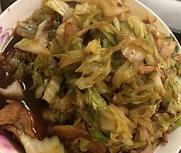 爆炒圆白菜的做法
