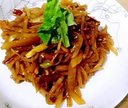 下饭菜辣炒萝卜丝的做法