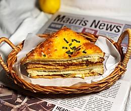 吐司的百变吃法-岩烧肉松三明治的做法