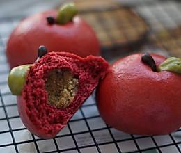 红苹果果蔬馒头的做法