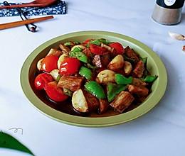 黑椒蚝甜山药蒜的做法