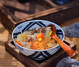 胡萝卜羊肉焖饭的做法
