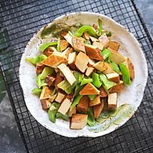 #花10分钟,做一道菜!#尖椒炒五香豆腐干