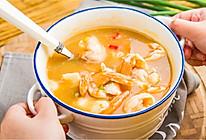 酸汤芙蓉虾片的做法