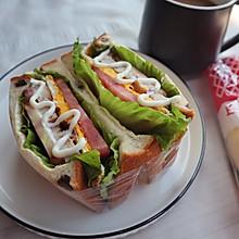 #丘比三明治#减脂低卡早餐|鸡胸肉三明治