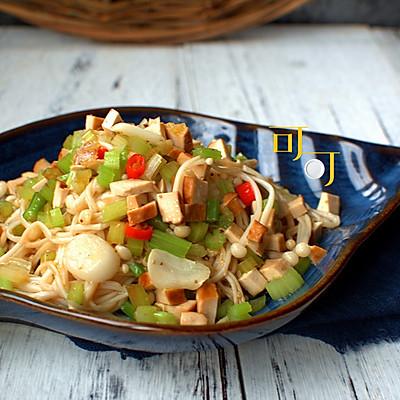 凉拌金针菇:酸辣爽品凉菜