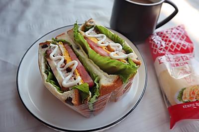减脂低卡早餐|鸡胸肉三明治