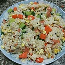 胡萝卜黄瓜火腿蛋炒饭