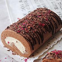 玫瑰巧克力蛋糕卷#长帝烘焙节刚柔阁#