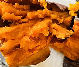 烤箱版❤️爆浆烤红薯的做法