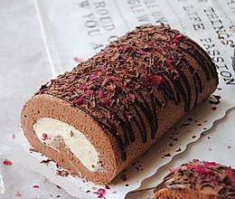 玫瑰巧克力蛋糕卷#长帝烘焙节刚柔阁#的做法