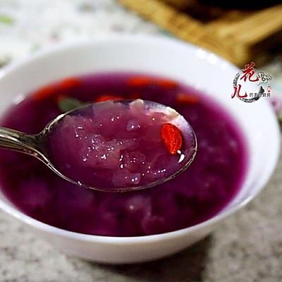 紫薯银耳冰粥