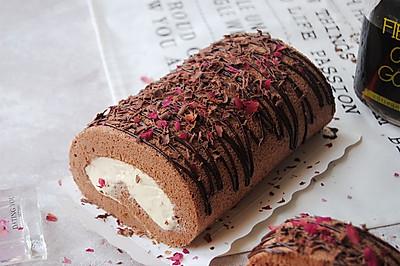 玫瑰巧克力蛋糕卷