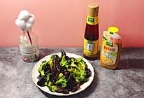 #太太乐鲜鸡汁芝麻香油#西兰花拌木耳的做法