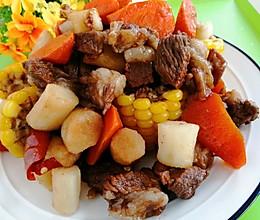 #中秋团圆食味#东北-羊肉炖玉米山药胡萝卜的做法