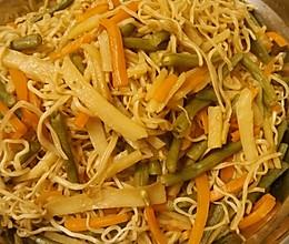 五彩缤纷蔬菜素蒸面条的做法
