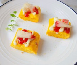 甜桃沙拉鸡蛋卷