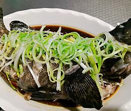 清蒸石斑鱼(油淋)的做法