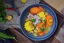 板栗胡萝卜玉米排骨汤的做法