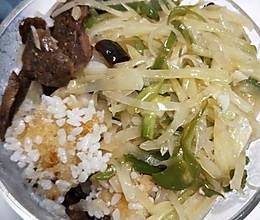 锅巴米饭的做法