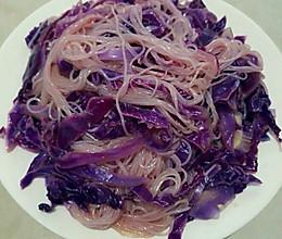 凉拌粉丝紫甘蓝的做法