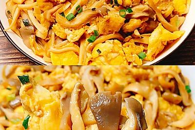 鲜美爽滑的平菇炒鸡蛋,超下饭又美味