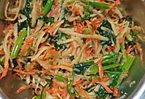 菠菜土豆丝,菠菜粉丝的做法
