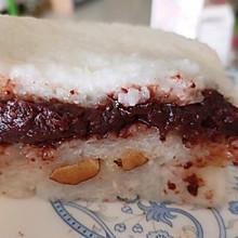 家庭版切糕~豆沙糯米糕