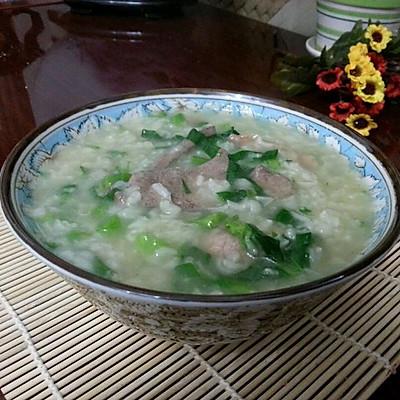 猪肝瘦肉菜心粥