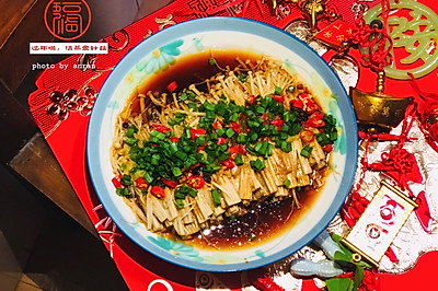 健康蒸菜—清蒸金针菇