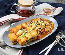 蘑菇香煎豆腐的做法