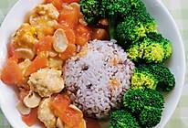 番茄鸡肉丸套饭的做法