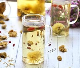 荷叶枸杞菊花茶的做法