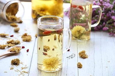 荷叶枸杞菊花茶