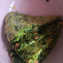 菠菜(胡萝卜)鸡蛋饼平底锅做法